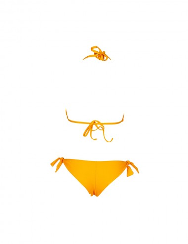 Bas de maillot de bain femme jaune brésilien tanga