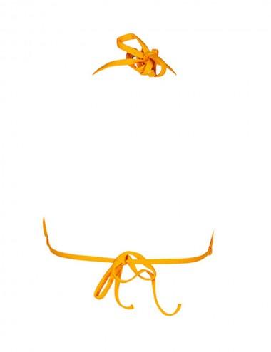 Haut de maillot de bain femme jaune triangle, coques amovibles