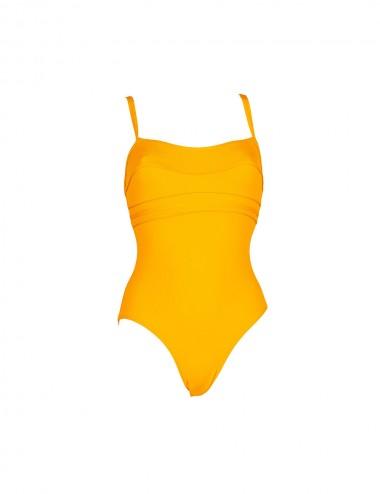 Maillot de bain femme jaune 1 pièce