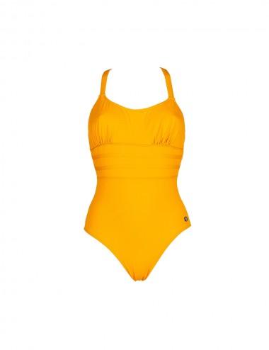 Maillot de bain 1 pièce jaune dos nu